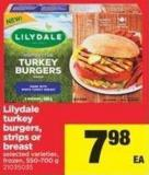 Lilydale Turkey Burgers - Strips Or Breast - 550-700 g