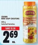 Crown Mini Soup Croutons