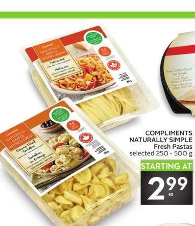 Compliments Naturally Simple Fresh Pastas
