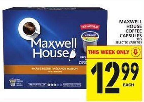 Maxwell House Coffee Capsules