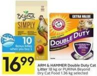 Arm & Hammer Double Duty Cat Litter 18 Kg or Purina Beyond Dry Cat Food 1.36 Kg Selected - 10 Air Miles Bonus Miles