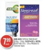 Rub-a535 Topical Pain Relief (100g-150g) - Sleepeze Or Nytol Sleep And (16's-20's)