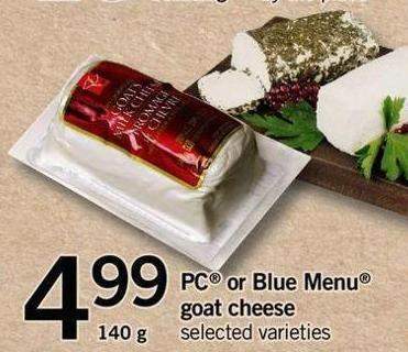 PC Or Blue Menu Goat Cheese - 140 g
