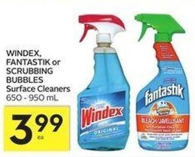 Windex - Fantastik or Scrubbing Bubbles Surface Cleaners