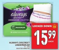 Always Discreet Underwear