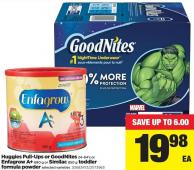 Huggies Pull-ups Or Goodnites 24-64's Or Enfagrow A+ 680 G Or Similac 850 G Toddler Formula Powder