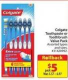 Colgate Toothpaste or Toothbrush Value Pack