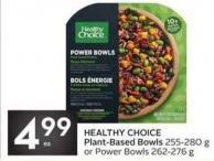 Healthy Choice Plant-based Bowls 255-280 g or Power Bowls 262-276 g
