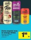 Zevia Organic Teas Or Energy Drinks - 222/355 mL