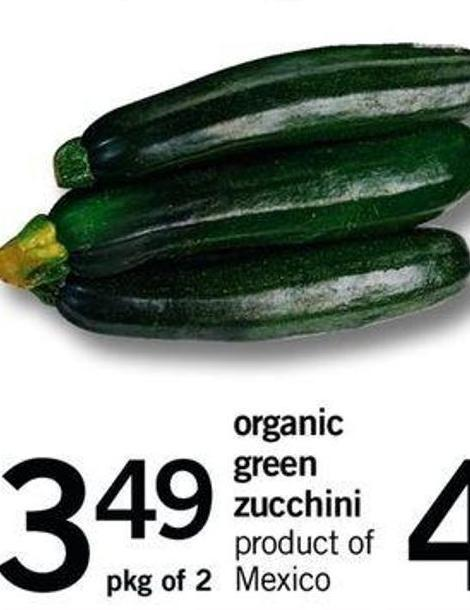 Organic Green Zucchini - Pkg Of 2