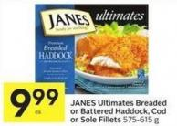 Janes Ultimates Breaded or Battered Haddock - Cod or Sole Fillets