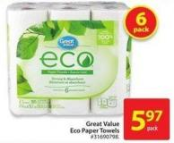 Great Value Eco Paper Towels