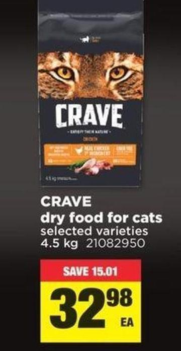 Crave Dry Food For Cats - 4.5 Kg
