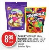 Cadbury Mini Eggs (400g) - Maynards Wine Gums (1kg) or Waterdridge Funmix Candy (900g)