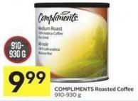Compliments Roasted Coffee 910-930 g