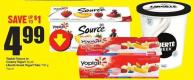 Yoplait Source or Creamy Yogurt 16 Pk Liberté Greek Yogurt Tubs 750 g