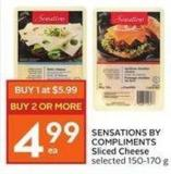 Sensations By Compliments Sliced Cheese Selected 150-170 g