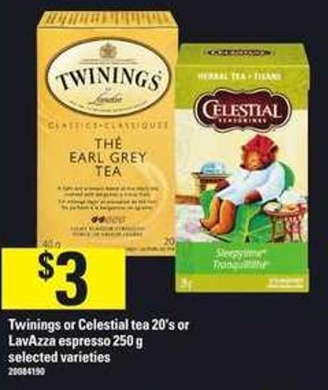 Twinings Or Celestial Tea - 20's Or Lavazza Espresso - 250 G