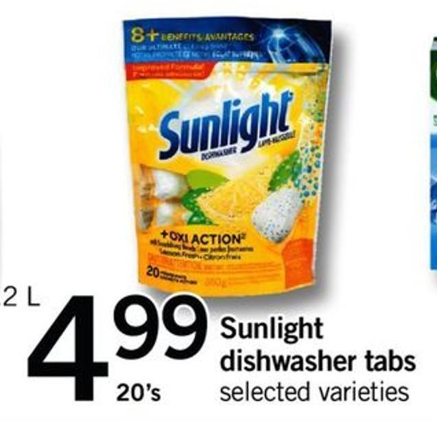 Sunlight Dishwasher Tabs - 20's