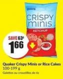 Quaker Crispy Minis or  Rice Cakes 100-199 g