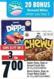 Quaker Chewy - Dipps Or Harvest Crunch Bars 130 - 175 g