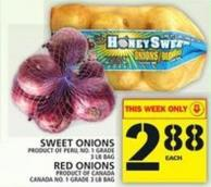 Sweet Onions Or Red Onions