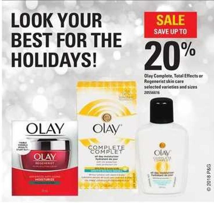 Olay Complete - Total Effects Or Regenerist Skin Care