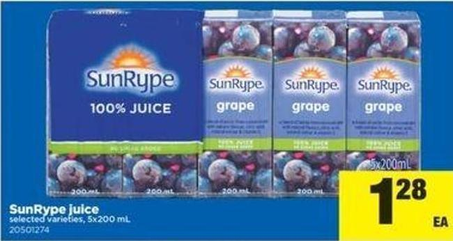 Sunrype Juice - 5x200 Ml