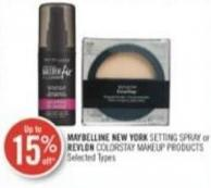 Maybelline New York Setting Spray or Revlon Colorstay Makeup Products
