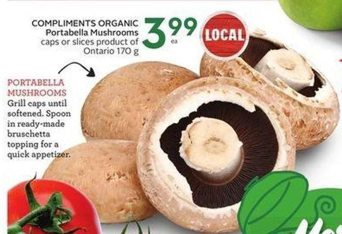 Compliments Organic Portabella Mushrooms
