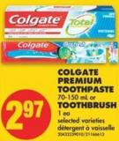 Colgate Premium Toothpaste - 70-150 mL or Toothbrush - 1 Ea