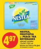Nestea - Fruitopia or Peace Tea Beverages - 12x341/355 mL