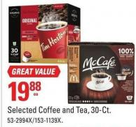 Selected Coffee and Tea - 30-ct