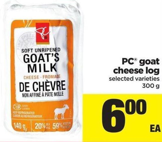 PC Goat Cheese Log - 300 G