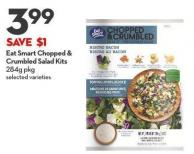 Eat Smart Chopped &  Crumbled Salad Kits 284g Pkg