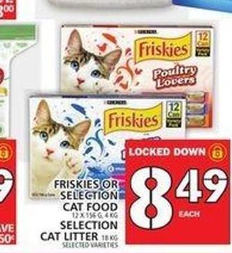 Purina Friskies Or Selection Cat Food or Selection Cat Litter