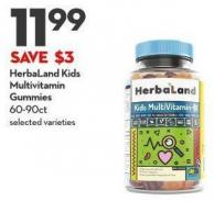 Herbaland Kids  Multivitamin  Gummies 60-90ct