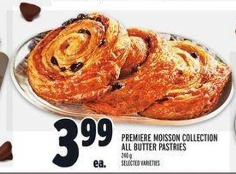 Premiere Moisson Collection All Butter Pastries