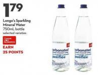 Longo's Sparkling  Mineral Water  750ml Bottle