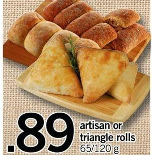 Artisan Or Triangle Rolls - 65/120 G