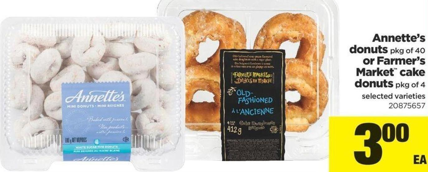 Annette's Donuts Pkg Of 40 Or Farmer's Market Cake Donuts Pkg Of 4