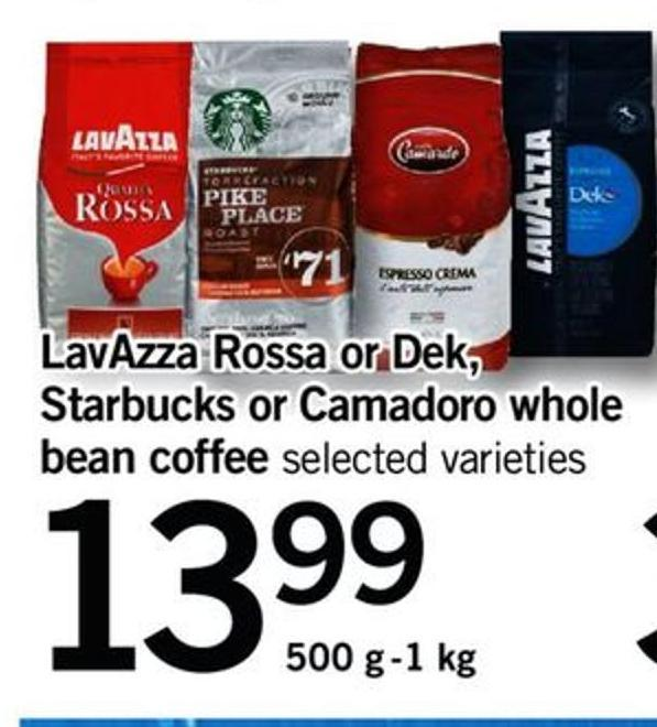 Lavazza Rossa Or Dek - Starbucks Or Camadoro Whole Bean Coffee - 500 G-1 Kg