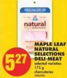Maple Leaf Natural Selections Deli Meat - 175 g