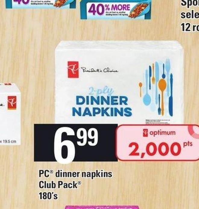 PC Dinner Napkins Club Pack