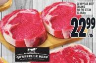 Qu'appelle Beef Organic Rib Eye Steak