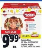 Huggies Wipes 352 - 384 Un.