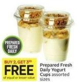 Prepared Fresh Daily Yogurt Cups