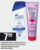 Head & Shoulders - L'oréal Ever Pure Or Herbal Essences Bio:renew Hair Care
