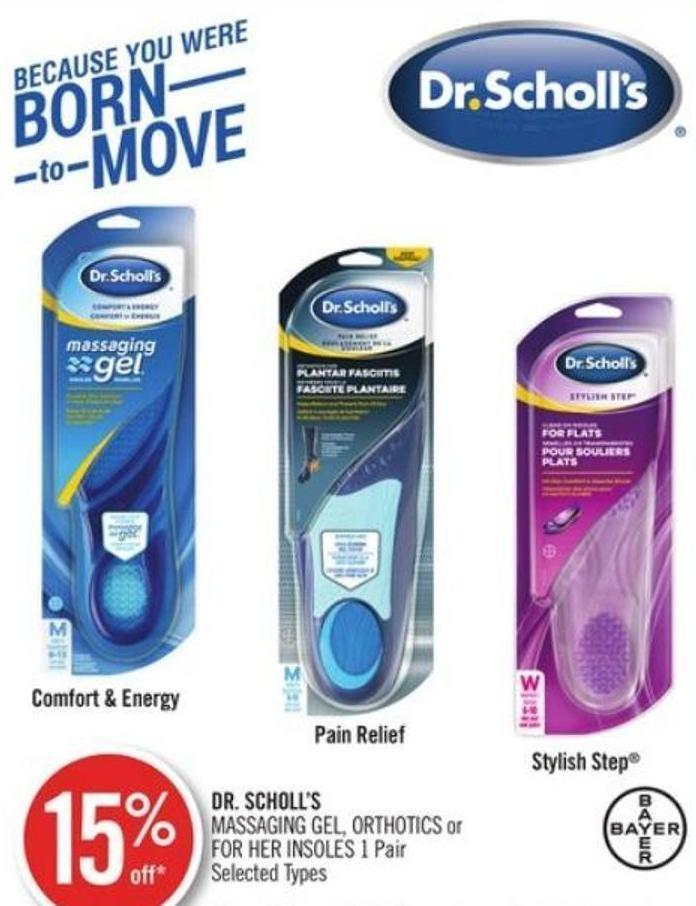 Dr. Scholl's Massaging Gel - Orthotics or For Her Insoles 1 Pair