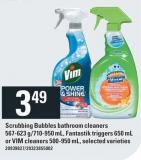Scrubbing Bubbles Bathroom Cleaners 567-623 G/710-950 Ml - Fantastik Triggers 650 Ml Or Vim Cleaners 500-950 Ml